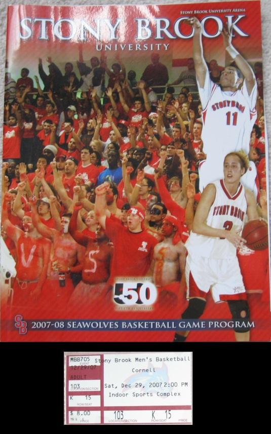 Stony Brook Sports Arena pgrm_tic