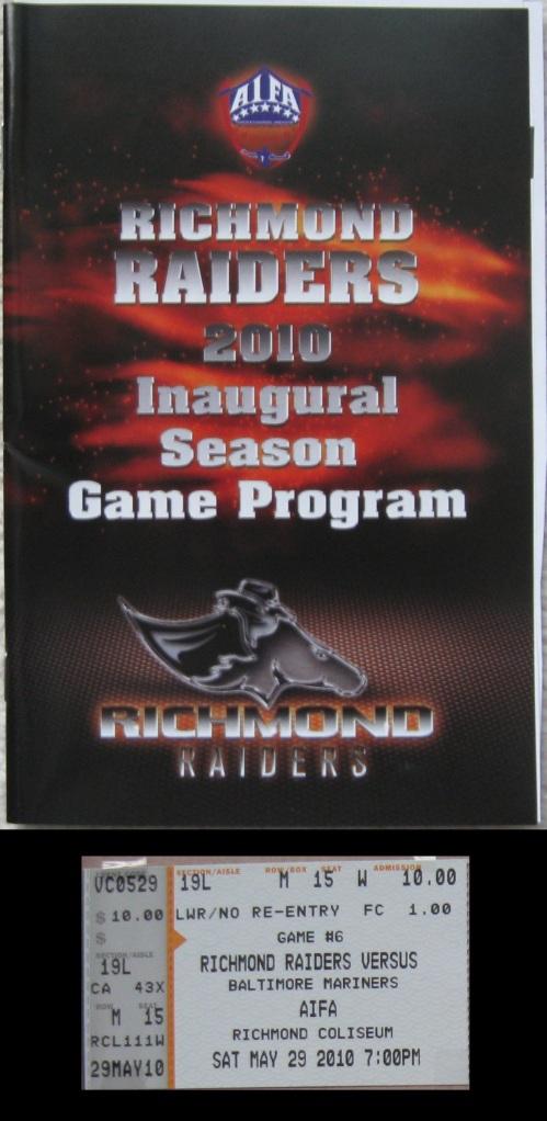 Richmond Coliseum pgrm_tic
