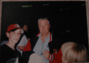 A giddy me 14 years ago with the great Rick Jeanneret