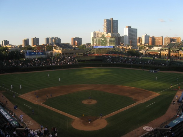 Say goodbye to the lack of electronics in Wrigley Field's Outfield