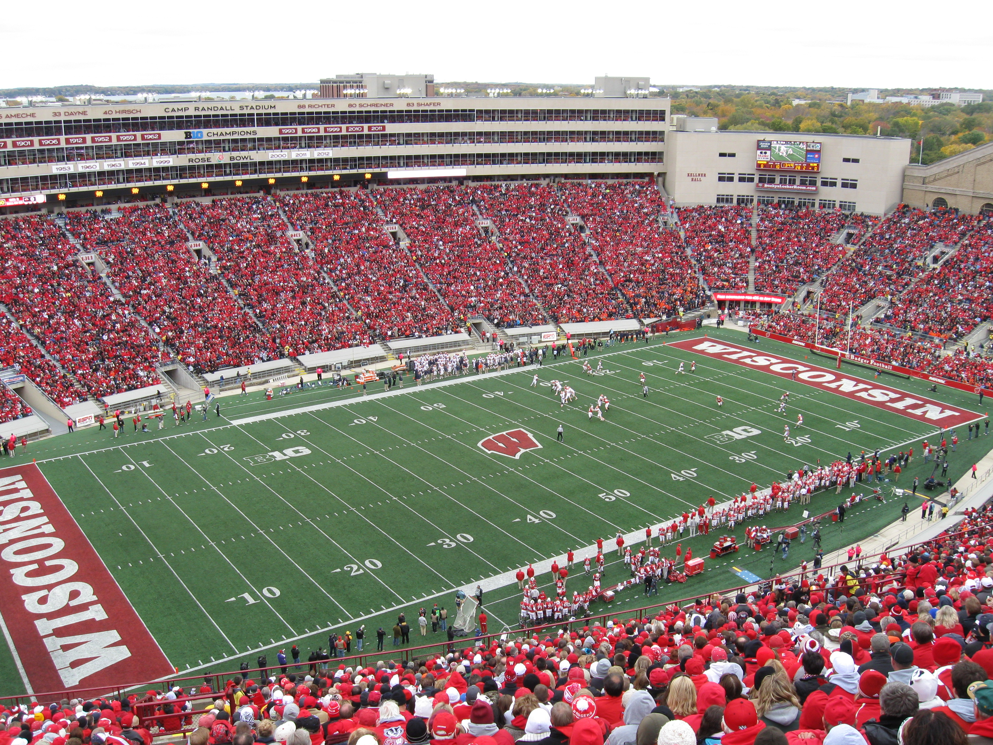 123 Camp Randall Stadium 171 Stadium And Arena Visits
