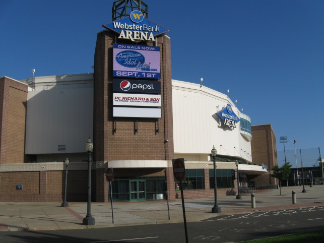 Webster Bank Arena Exterior