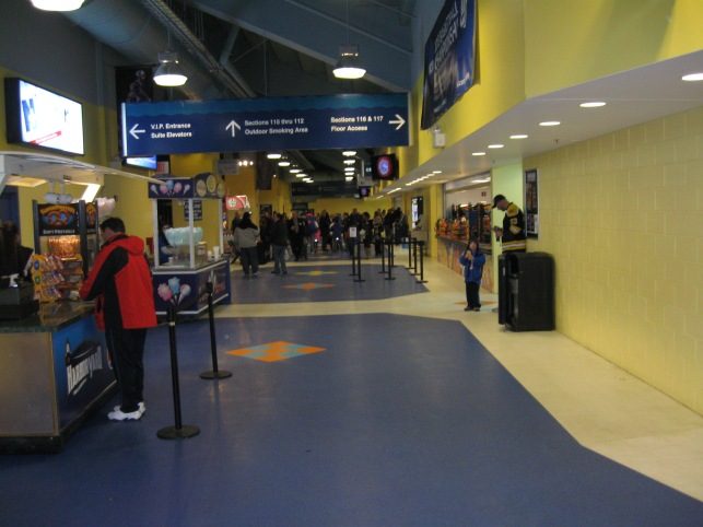 Webster Bank Arena Concourse