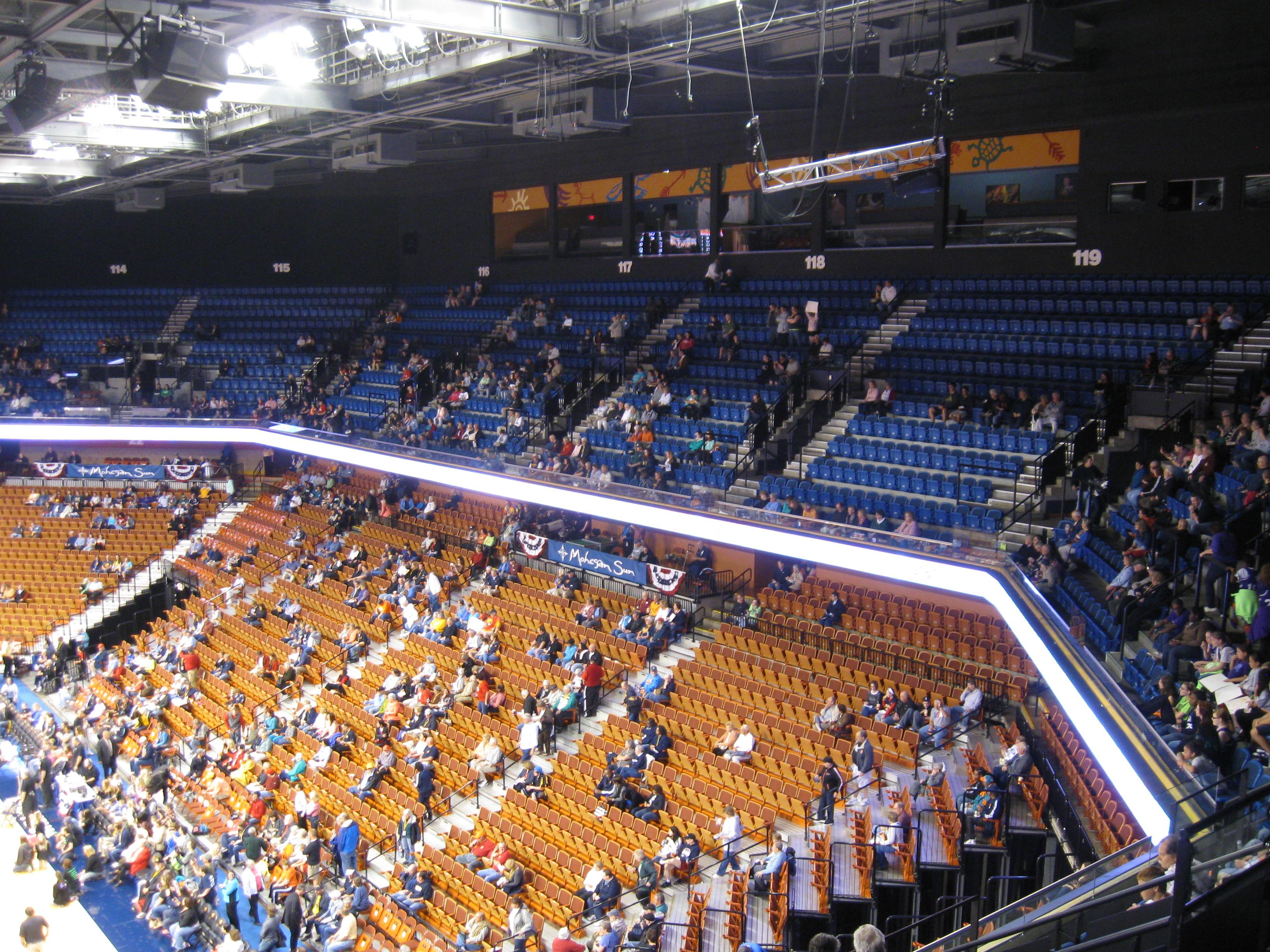 Madison Square Garden: #132 Mohegan Sun Arena « Stadium And Arena Visits