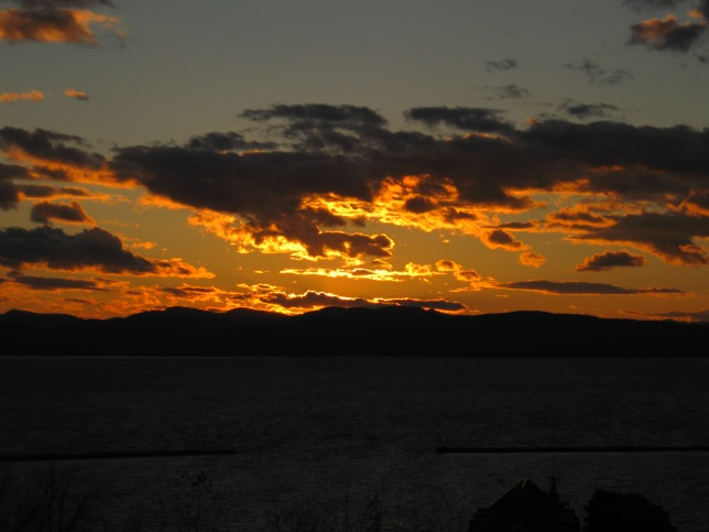 Burlington, VT Sunset over Lake Champlain