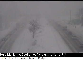A Traffic Cam from I-380 in the Pocono's on Saturday Afternoon