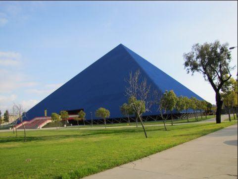 Walter Pyramid, home of Long Beach State Basketball (Photo Credit - Stadium Journey and Drew Cieszynski)