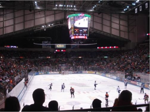 Allen County War Memorial Coliseum, home of Fort Wayne Komets Hockey (Photo Credit - Stadium Journey and Marc Viquez)