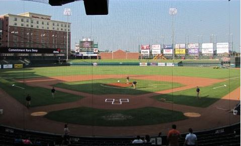 Chickasaw Bricktown Ballpark, home of Oklahoma City Redhawks baseball (Photo Credit - Stadium Journey)