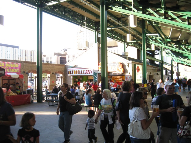 The wide concourses at Frontier Field have a terrific array of concessions