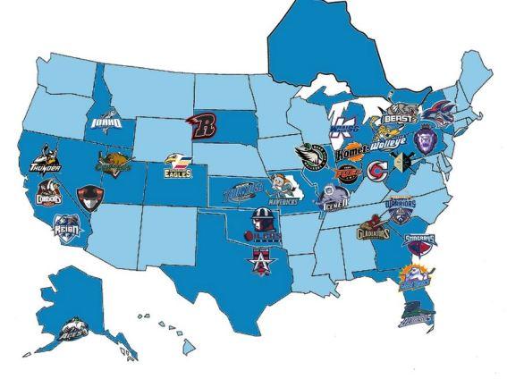 ECHL Map