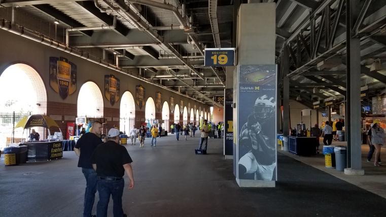 Michigan Stadium Concourse